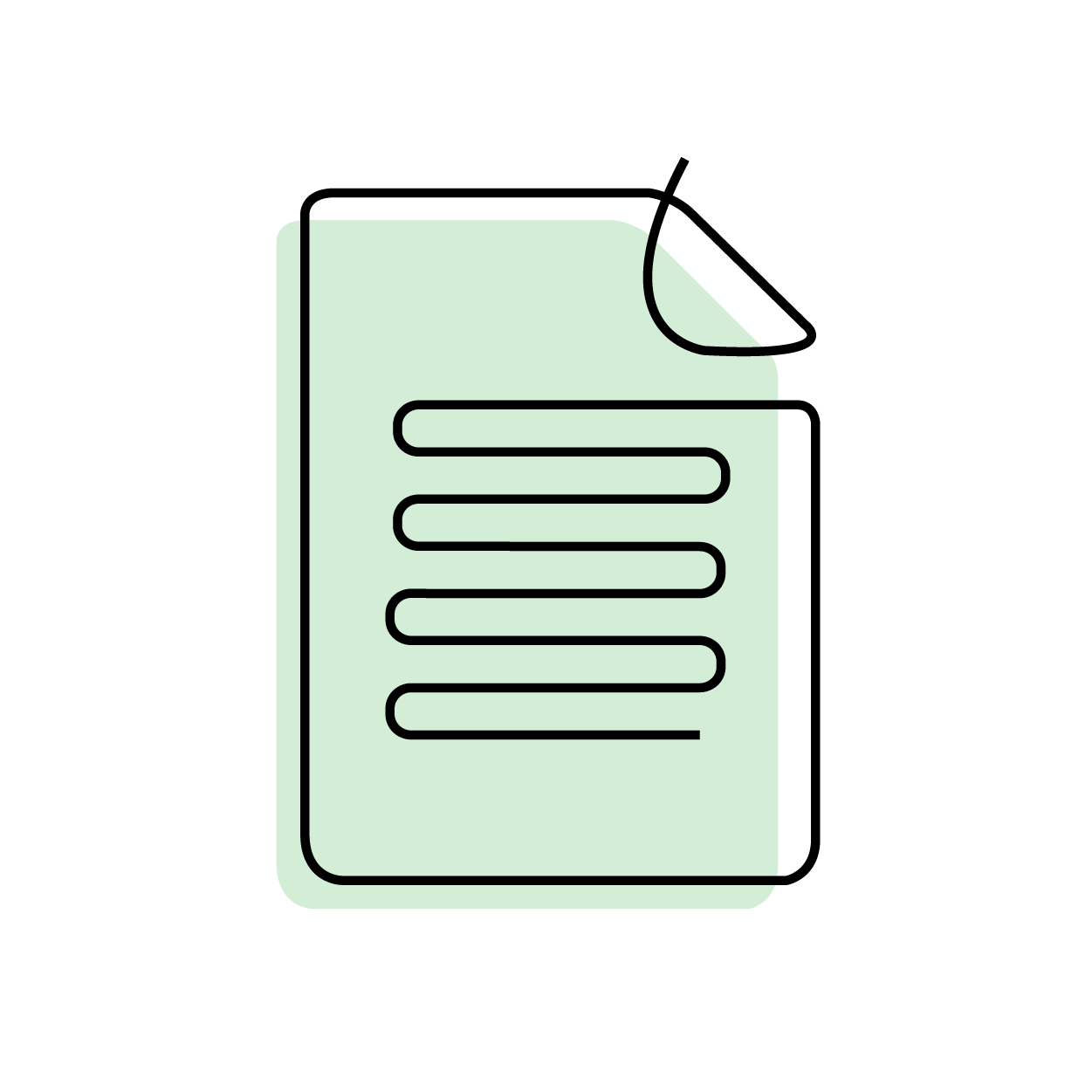 generic green document article illustration