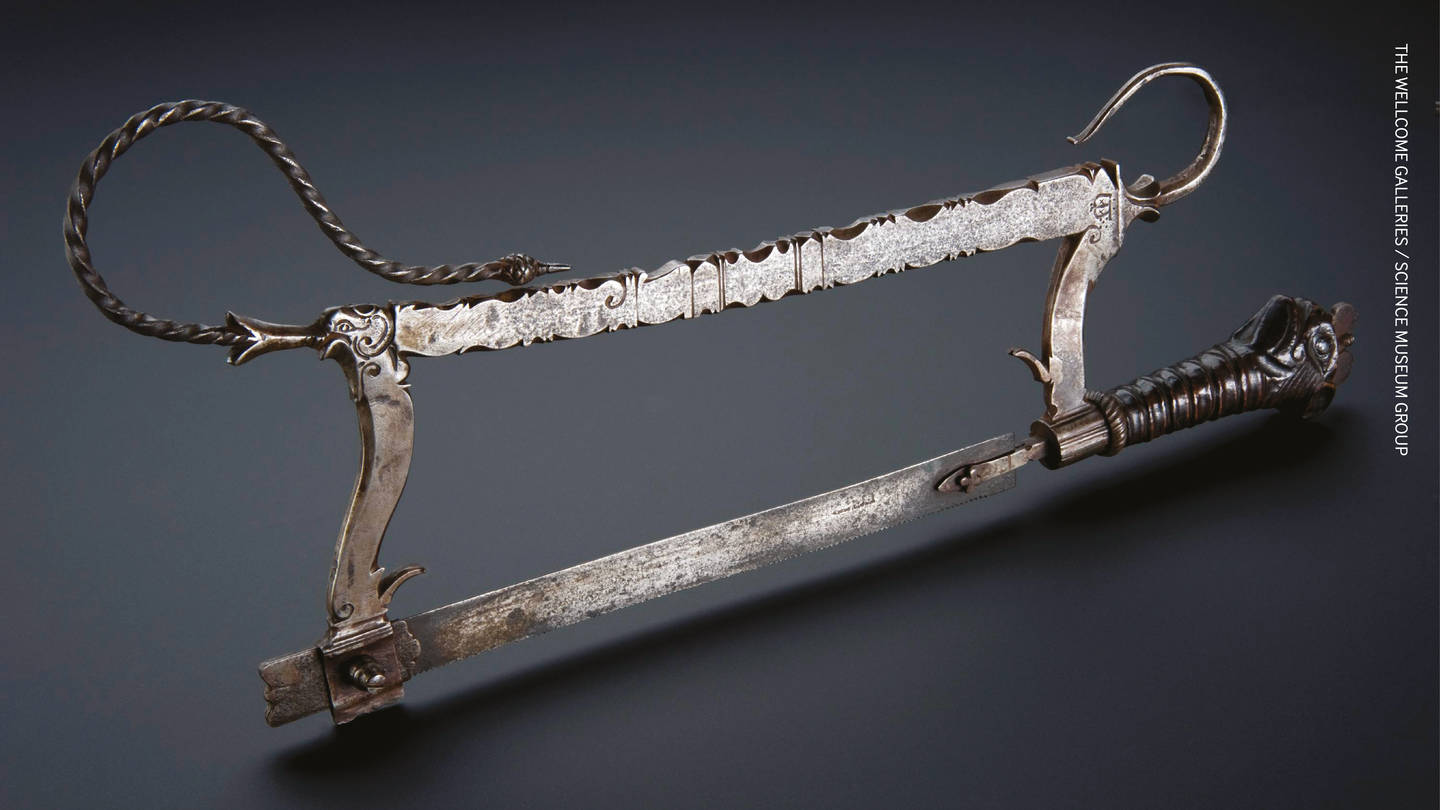 400 year old amputation saw, artefact from the Science Museum Wellcome Group