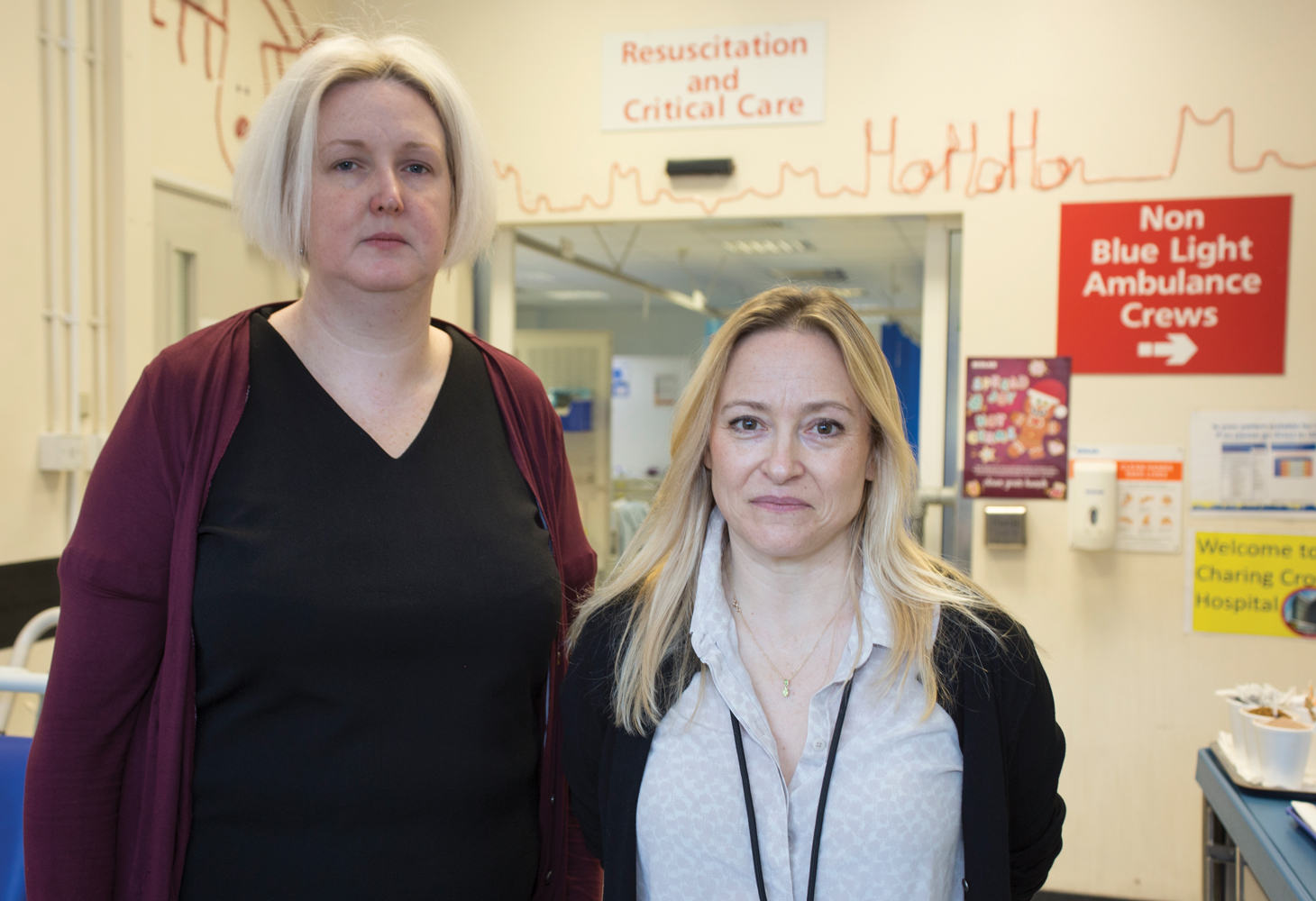 Gemma Harper (left) a mental health support worker, and Dr Emma Schofield (right) a staff grade in emergency medicine